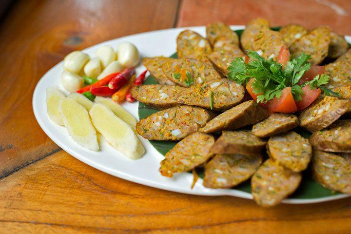Sai Oua of Chiang Mai sausage