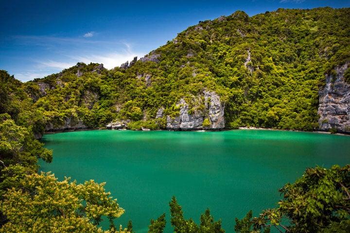 Thale Nai lagoon, Mae Koh island, Ang Thong National Marine Park, Thailand