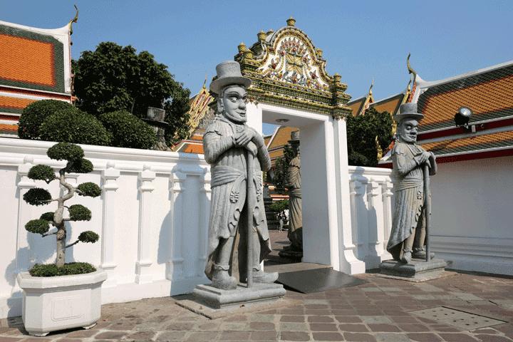 Wachters-demonen bij de Wat Pho in Bangkok