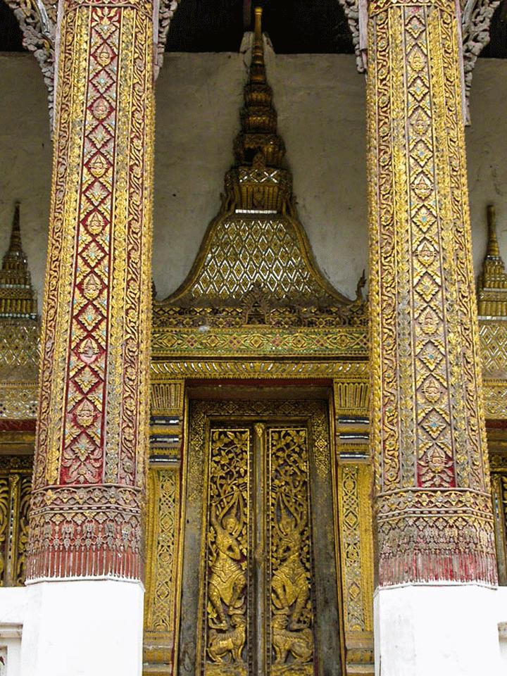 Zuidzijde van de Wat Pa Khe in Luang Prabang