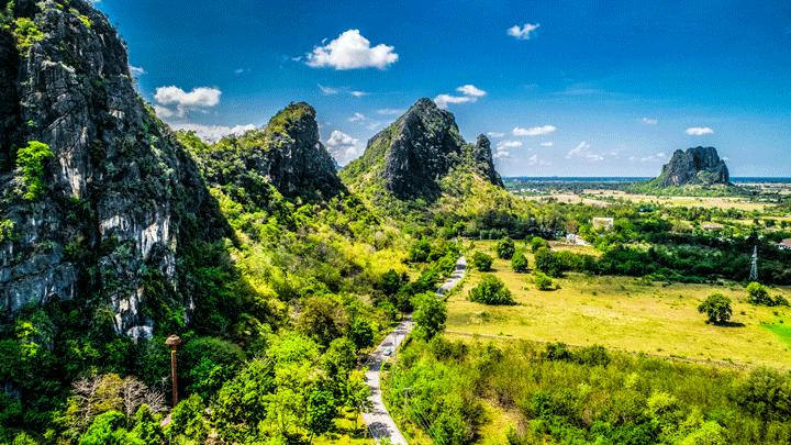 HDR Mountain Cha Am Phetchaburi Thailand