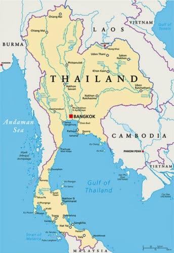 Landkaart Thailand Lees Meer Op Thailandblog Nl