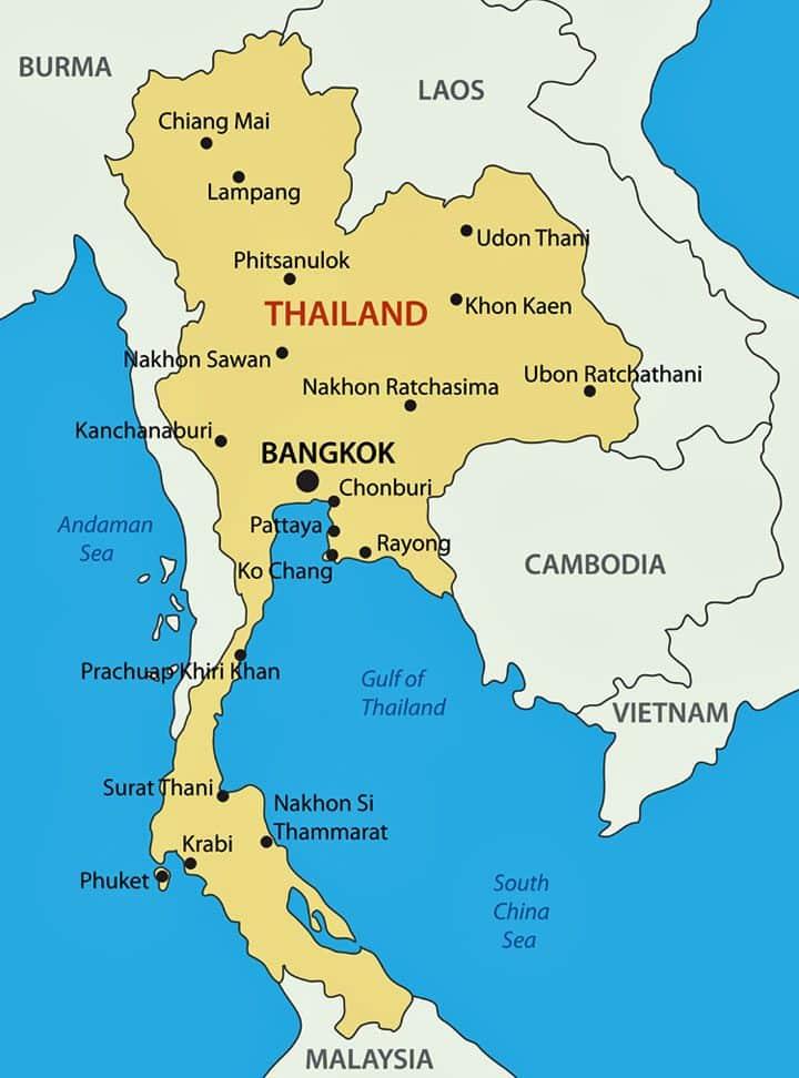 Toeristische Regio S In Thailand Thailandblog